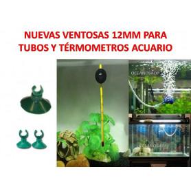 Pack de 2 VENTOSAS 12 mm diametro para Tubo y Termómetros bomba acuario