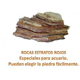 Roca estratos rojos 1kg