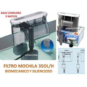 Filtro mochila 350l/h 3w hbl-302