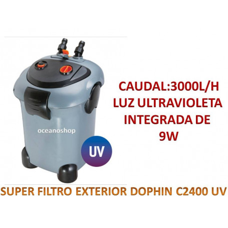 Super filtro UV exterior dophin 3000l/h