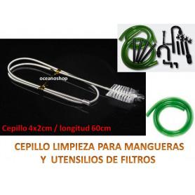 Cepillo para mangueras y accesorios de filtros de acuario