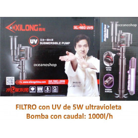 Filtro interior UV ultravioleta esterelizador