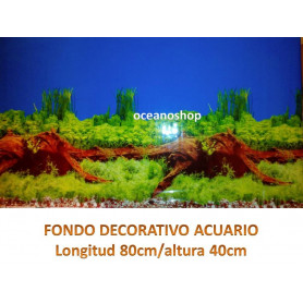 Fondo decorativo acuario 80x40cm
