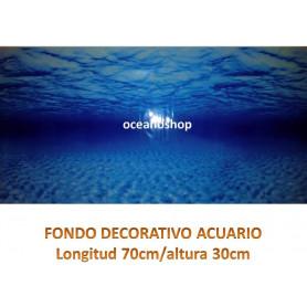 Fondo decorativo acuario 70x30cm