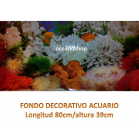 Fondo decorativo acuario 80x39cm