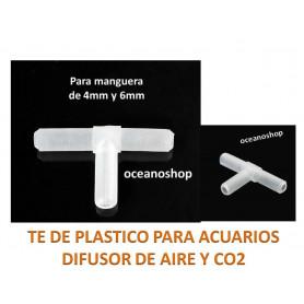 TE de plastico para manguera de Aire
