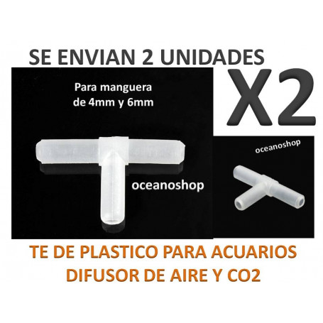 Pack X2 TE de plastico para manguera de Aire