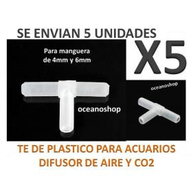 Pack X5 TE de plastico para manguera de Aire