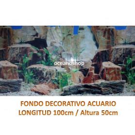 Fondo decorativo 100x50cm paredes de piedra