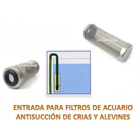 Alcachofa entrada antisucción filtros
