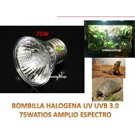Lámpara halógena para reptiles 75W UVA+UVB3.0