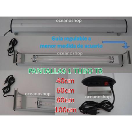 Pantalla 100cm 1 TUBO T8 25W