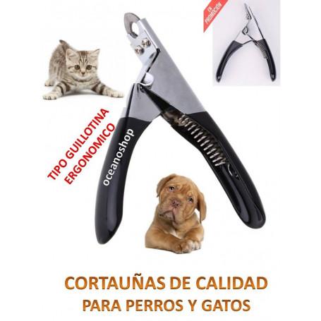 Cortauñas perro o gato tipo guillotina.