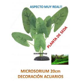 MICROSORIUM 20cm PLANTA de SEDA ASPECTO MUY REAL