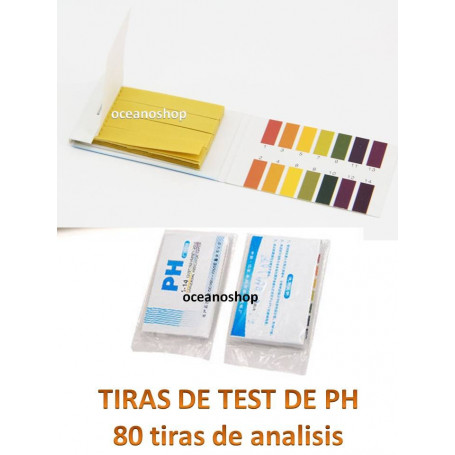 TEST PH (80 tiras)