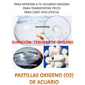 Pastillas de oxigeno 15 unidades 72h