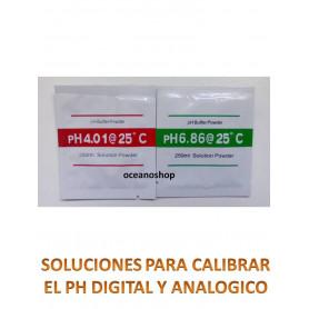 Solucion calibradora de ph 2 sobres