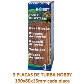 Placas de turba prensada hobby 3 unidades