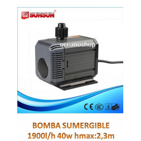 Bomba 1900l/h sumergible 40w