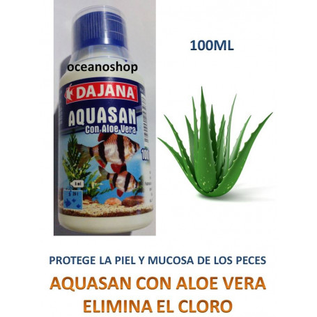 Anticloro 100ml aquasan de dajana con aloe vera