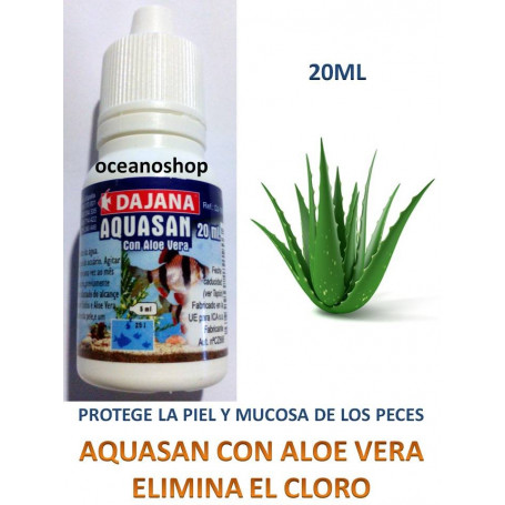 Anticloro 20ml aquasan de dajana con aloe vera