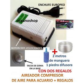 Compresor de aire con manguera y piedra difusora