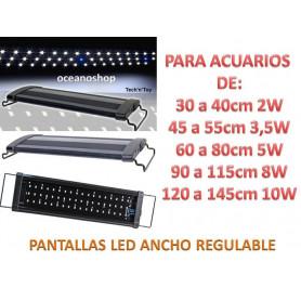 PANTALLA ACUARIO DE 45 a 55cm LUZ LED BLANCOS y AZULES leds de 3,5 watios
