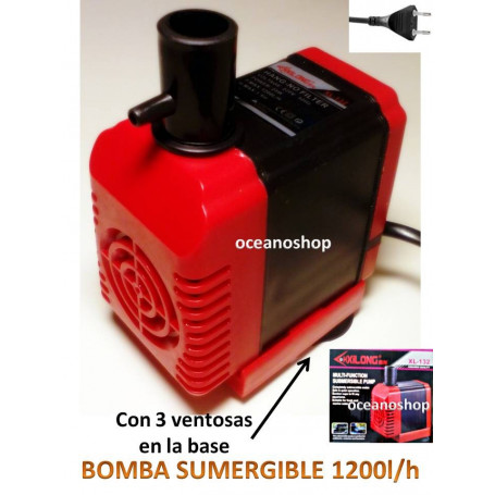 Bomba 1200l/h sumergible