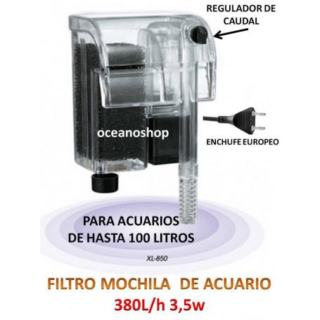 FILTRO EXTERIOR de Mochila con bomba de 380L/h 3,5W Acuario, Gambario, PECERA