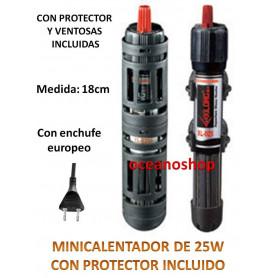 Mini calentador 25w con rejilla protector.