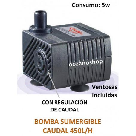 Bomba sumergible de 450l/h 5w