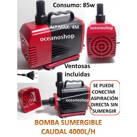 Bomba 4000l/h sumergible