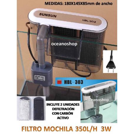 Filtro mochila 350l/h 3w hbl-303