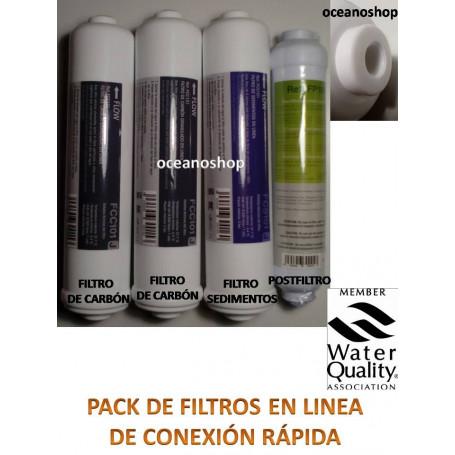 Juego 4 filtros osmosis inversa compact