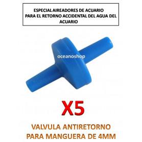 5uds Valvula antiretorno oxigenador y co2