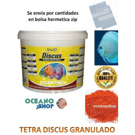 Tetra discus comida peces. Peces disco granulado.