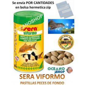 Comida Peces Pastillas de FONDO, SERA VIFORMO Acuario Para Plecostomus, Lochas, Coridoras...