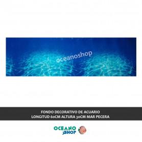FONDO DECORATIVO de ACUARIO  longitud 60cm altura 30cm mar pecera