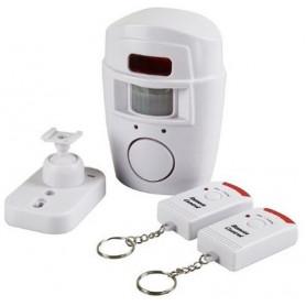 Alarma casa hogar garaje detector de movimiento con 2 mandos