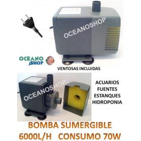 Bomba sumergible de 6000l/h