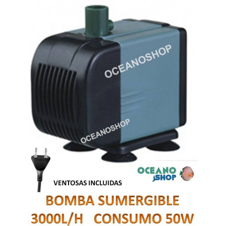 Bomba sumergible de 3000l/h