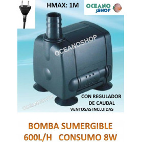 Bomba sumergible de 600l/h