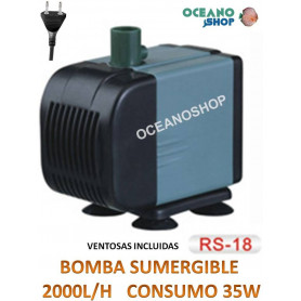 Bomba 2000l/h sumergible barata