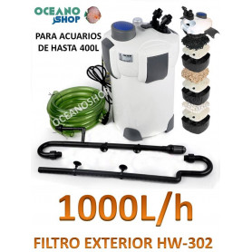 FILTRO PARA ACUARIOS EXTERNO  SUNSUN HW-302 1000L/H 18W