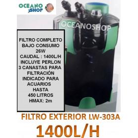 FILTRO EXTERIOR 1400LH  JIALU LW-303A    GRAN CAPACIDAD DE CARGA FILTRANTE