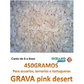 grava acuario barata sustrato plantas pink desert 450GR