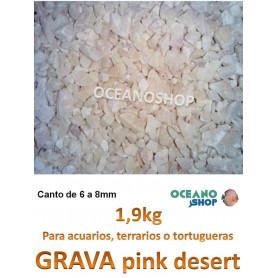 grava acuario barata sustrato plantas pink desert 1,9kg