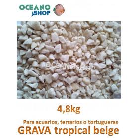 grava acuario barata sustrato plantas tropical beige 4,8kg