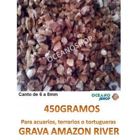 grava acuario barata sustrato plantas amazon river 450gr