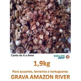 grava acuario barata sustrato plantas amazon river 1,9kg